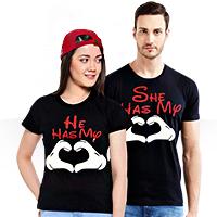 ست تی شرت مردانه و زنانه طرح رمانتیک