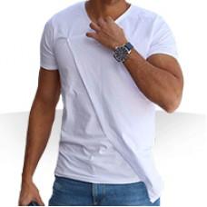 تی شرت سفید مردانه طرح جدید