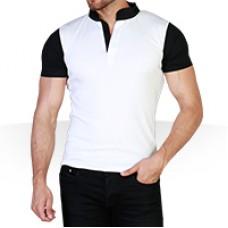 تیشرت مردانه طرح سفید مشکی White