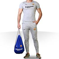 ست تی شرت و شلوارک مردانه مدل شوز بگ همراه با ساک ورزشی