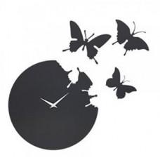 ساعت دیواری طرح پرواز پروانه کد a45
